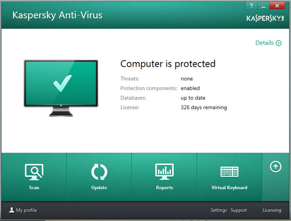 Kaspersky Protection Components Enabled