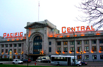 Pacific Central Station in Vancouver
