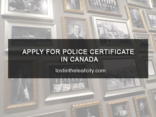 Apply for Police Certificate