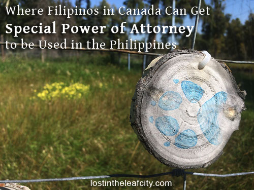 Filipinos Can Get Special Power of Attorney in Canada