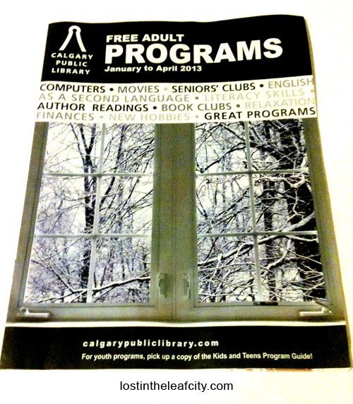 Calgary Public Library Adult Program Guide 2013
