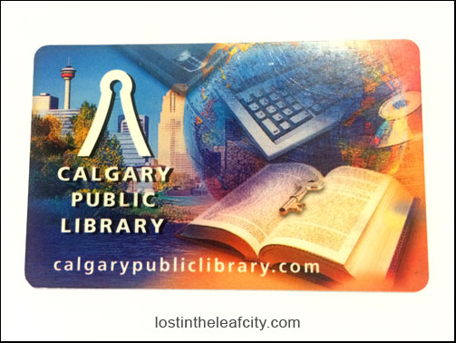 The Calgary Public Library Card