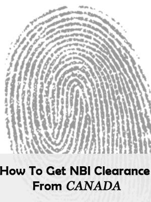 Get NBI Clearance From Canada