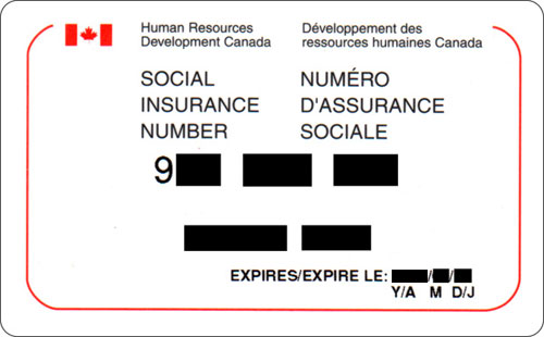 how to get social insurance number perminent resident canada