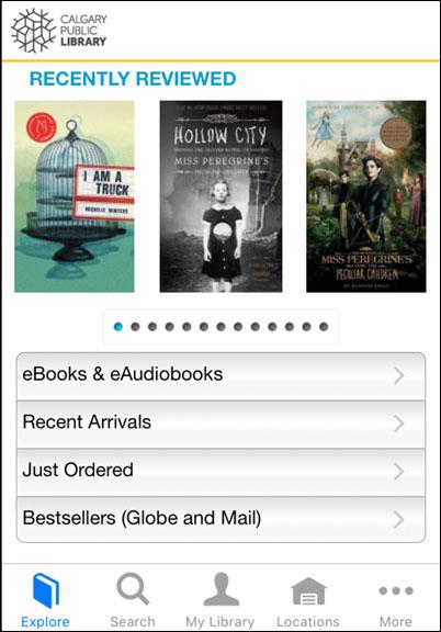 Calgary Public Library Mobile App