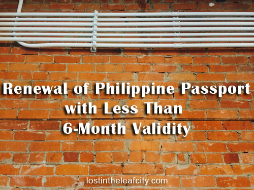 Philippine Passport with Less Than 6-Month Validity