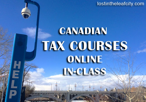 Canadian Tax Courses: Online and In-Class