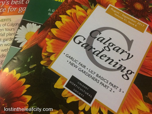 Print Copy of Calgary Gardening Magazine