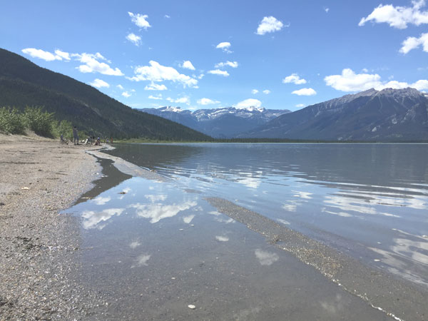 Lake Near Jasper and on the Way to Edmonton