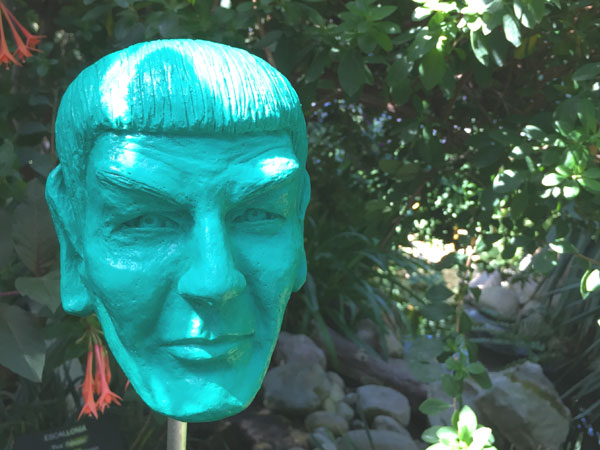 Spock Art for Sale in the Garden